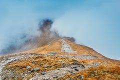 Ландшафт горы осени, горы Tatra Стоковая Фотография