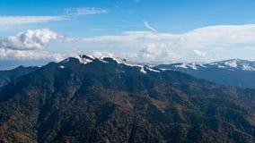 Ландшафт горы, прикарпатские горы стоковое фото rf