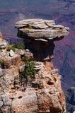 Ландшафт горы с большим камнем стоковая фотография rf