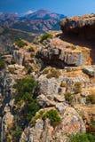 Ландшафт горы Corse-du-юга вертикальный Стоковое фото RF