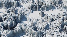 Ландшафт горы Snowy, 3d представляет Стоковые Фото
