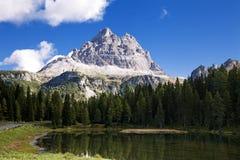 Ландшафт гор доломитов Стоковые Фотографии RF