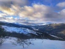 Ландшафт гор Ushuaia стоковая фотография rf