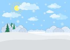 Ландшафт, день зимы Стоковые Изображения RF