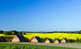 ландшафт деревенских домов Стоковые Фото