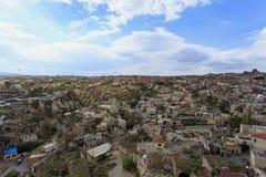 Ландшафт деревни Cappadocia Стоковое Изображение