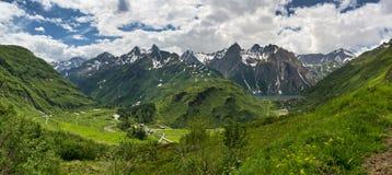Ландшафт долины Formazza весной Стоковая Фотография RF