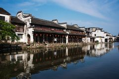 Ландшафт древнего города в Nanxun Стоковая Фотография RF