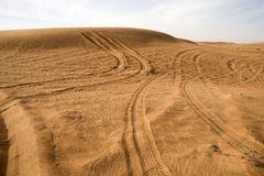ландшафт Дубай пустыни Стоковые Изображения