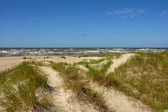 Ландшафт дюны вдоль Балтийского моря в Liepaja, Латвии Стоковое фото RF