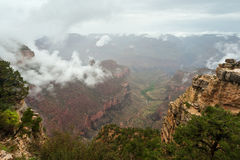 ландшафт заворота облака каньона грандиозный Стоковые Изображения