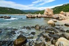 Ландшафт залива Nha Trang, Вьетнама стоковое фото