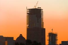 Ландшафт захода солнца восхода солнца Мехико оранжевый Стоковые Фотографии RF