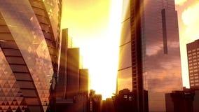 Ландшафт захода солнца Лондона сток-видео