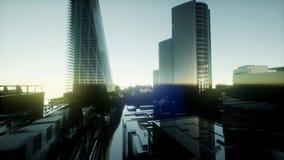 Ландшафт захода солнца Лондона видеоматериал