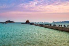 Ландшафт захода солнца пляжа стоковое фото rf
