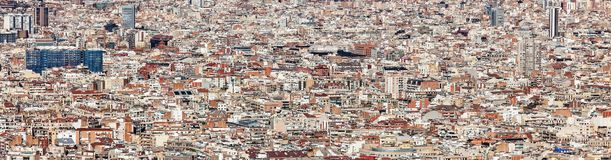 Ландшафт зданий Барселоны стоковая фотография rf
