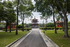 Ландшафт здания и парка в Тайбэе Тайване Стоковые Изображения