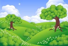ландшафт зеленых холмов Стоковое Изображение