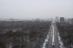 Ландшафт зимы в Берлине стоковое изображение rf