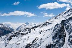 Ландшафт зимы в Европе Стоковые Фото