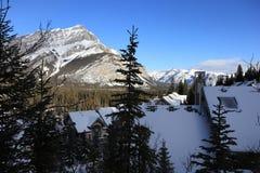 Ландшафт зимы в Канаде, Banff Стоковая Фотография