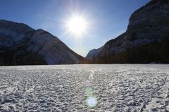 Ландшафт зимы в Канаде, Banff Стоковая Фотография RF