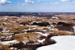 Ландшафт зимы в Литве Стоковые Изображения RF