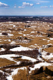 Ландшафт зимы в Литве Стоковое Фото