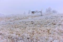 Ландшафт зимы Литвы сельское место Стоковые Фотографии RF