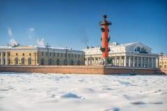 Ландшафт зимы на Санкт-Петербурге, России Стоковое фото RF