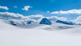 Ландшафт зимы небесный Стоковые Фотографии RF