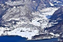 Ландшафт зимы, Словения, зона Bohinj стоковое изображение