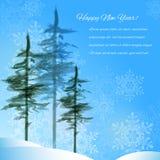 Ландшафт зимы иллюстрация штока