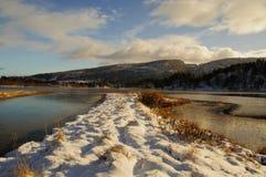 Ландшафт зимы Стоковые Изображения