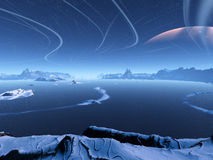 Ландшафт зимы бесплатная иллюстрация