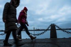Ландшафт зимы Sankt-Peterburg стоковое изображение
