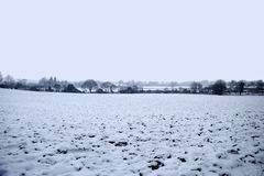 Ландшафт зимы Snowy английский Стоковая Фотография