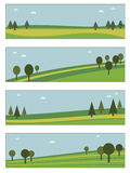 ландшафт знамен иллюстрация вектора