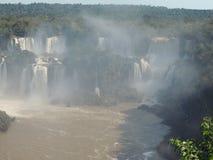 Ландшафт Игуазу Фаллс тумана Стоковое Изображение