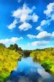 ландшафт иллюстрации Стоковая Фотография