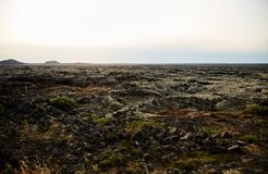 ландшафт Исландии вулканический стоковые изображения