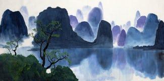 Ландшафт и озеро горы Стоковое Фото