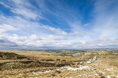 Ландшафт Йоркшира зимы стоковые изображения