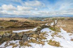 Ландшафт Йоркшира зимы стоковое фото rf