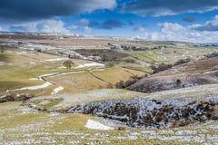 Ландшафт Йоркшира зимы стоковая фотография rf