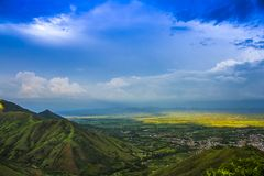 Ландшафт Колумбии, Valle del Cauca стоковое фото