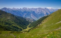 Ландшафт красивого вида Швейцарии стоковое фото