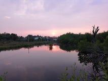 Ландшафт красивых заходов солнца стоковая фотография