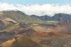 Ландшафт кратера вулкана Haleakala на Мауи Стоковое Изображение RF